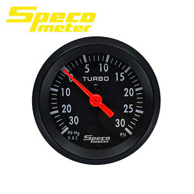 "Speco Mechanical Boost Vaccuum Gauge 2"" 30 PSi Street Series 533-03"