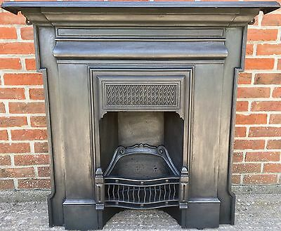 Original Late Victorian (1896) Antique Cast Iron All In One Fireplace