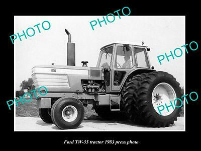 Old Large Historic Photo Of Ford Tw-35 Tractor 1983 Press Photo