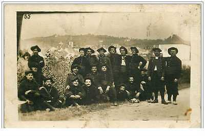 74 SILLENGY. Chasseurs Alpins 1910. Carte Photo rare...