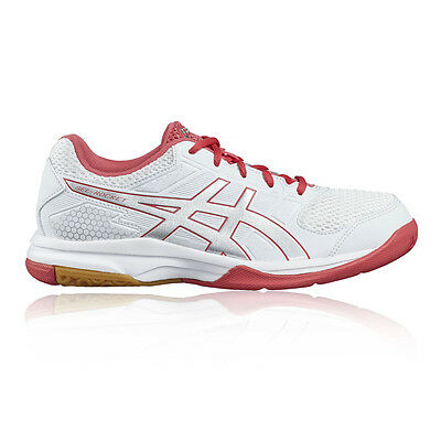 Asics Gel-Rocket 8 Womens White Squash Indoor Court Shoes Trainers Pumps