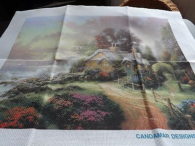 tapestry canvas [cottage by a river  number 50994 ]