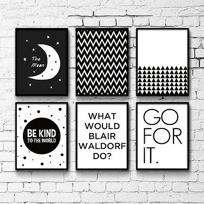 Geometry Black White Motivational Art Canvas Poster Abstract painting Home Decor