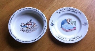 Wedgewood Bowl & Plate Peter Rabbit Design