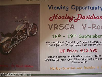 Harley Davidson VRSCA V Rod Dealer Giant Print Poster used for launch promotion