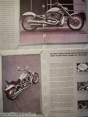 Harley Davidson V-Rod VRSA Print Poster 2x A3 sheets with Velcro Backing