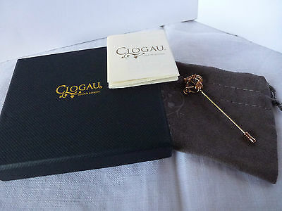 Clogau Welsh Gold, 9ct Yellow & Rose Gold Tree Of Life Lapel Pin RRP £250