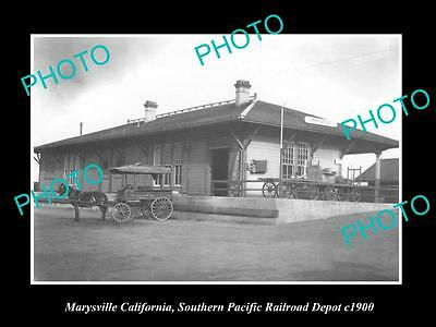 Old Historic Photo Of Marysville California Southern Pacific Railroad Depot 1900
