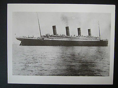 Titanic Postcard- Titanic Steaming Out Of Cork Harbour 11April 1912