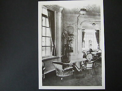 Titanic Postcard-Reading/writing Room A Deck Olympic(Sister Ship To Titanic)