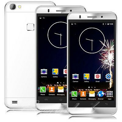 "Unlocked 5"" Mobile Phone Dual SIM GPS Quad Core Android 5.1 Smartphone 3G Touch"