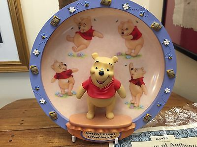 Winnie the Pooh Bradford Exchange Disney 100 acre days 3d limited edition plate