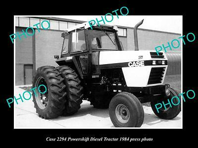 Old Large Historic Photo Of Case 2294 Powershift Tractor 1984 Press Photo