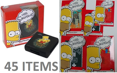 45 Simpsons Items: 22 Card Readers and 23 Laptop Skins Job Lot/Pallet/Bankrupt