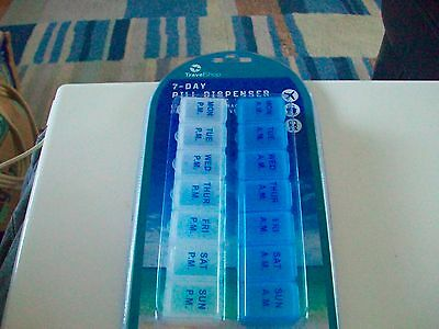 7 Day Pill Box Medicine Tablet Dispenser  Weekly Storage Case for AM PM £1.25