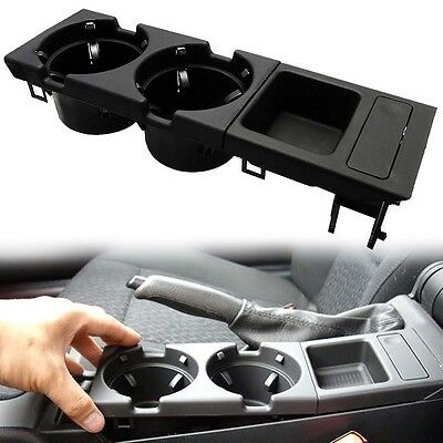 1pc Black Center Console Coin Tray Box+Cup Holder For BMW E46 3 Series 98-04