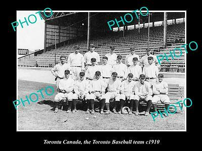 Old Large Historic Photo Of Toronto Canada, The Toronto Baseball Team 1910