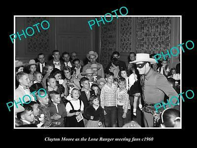 OLD LARGE HISTORIC PHOTO OF AUSTIN TEXAS, CLAYTON MOORE THE LONE RANGER c1960 1