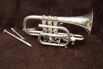Wonderful  Antoine Courtois Paris Cornet Arban Model +Arban Mouthpiece Year 1912