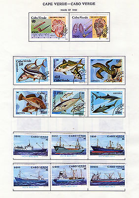 28 Stamps Cape Verde 1980 81 Some Full Series Mix Condition