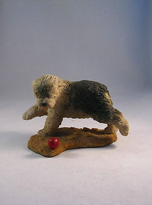 Vintage Crown Staffordshire Olde English Sheepdog With Ball
