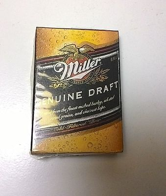 (E) Miller MGD Beer Playing Cards #A
