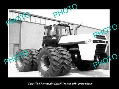 Old Large Historic Photo Of Case 4994 Powershift Tractor 1984 Press Photo