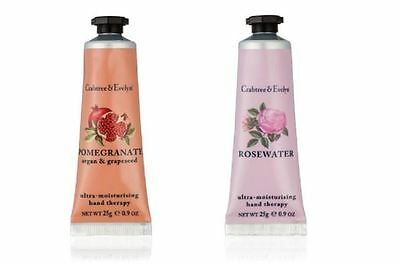 Crabtree & Evelyn - POMEGRANATE & ROSEWATER HAND THERAPY 25g - Hand Cream NEW