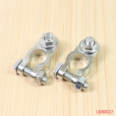 Pair of Positive Negative Cargo Type Zinc Battery Terminals Clamp Connector