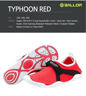 Ballop Water Play, Indoor Sports, Aqua Shoes for Women 1Pcs (Red)