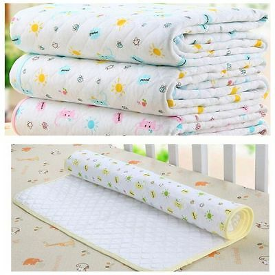 35*45CM Soft Reusable Cotton And TPU Mat Towel Baby Urine Pad Absorbent Cloth