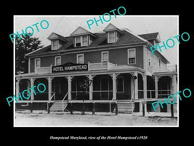 OLD LARGE HISTORIC PHOTO OF HAMPSTEAD MARYLAND, THE HOTEL HAMPSTEAD c1920