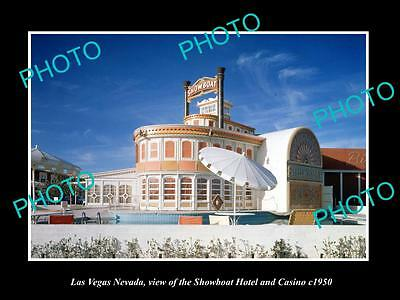 OLD HISTORIC CASINO GAMBLING PHOTO OF LAS VEGAS NEVADA, SHOWBOAT CASINO c1950 1