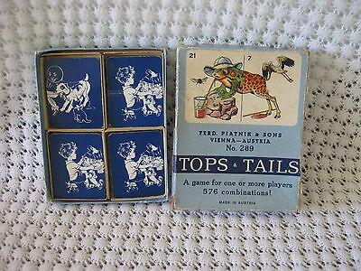 1950's Tops & Tails Game Box  Made in Austria