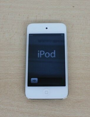 Apple iPod Touch 4th Generation A1367 White Silver 8GB Good Condition ETCHED