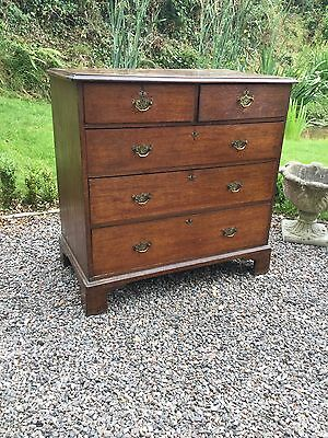 Antique George III Oak Chest Of Drawers