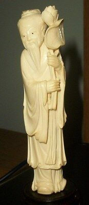 original hand carved statue least 46 Year Old From My Collection I think Chinese