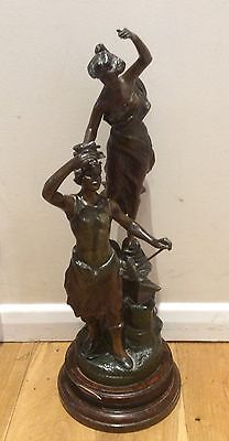 Unusual Antique Statue By Charles Ruchot