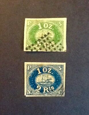 PACIFIC STEAM NAVIGATION CO two early franked imperfs