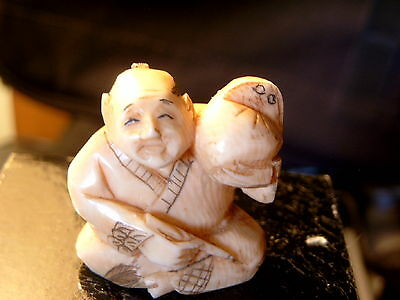 NoNetsuke Hand Carved & Signed at least 46 Years Old - ((From My Collection)) L@