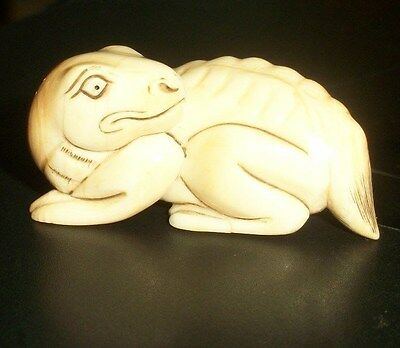 Netsuke Hand Carved & Signed at least 46 Years Old - ((From My Collection)) L@@K