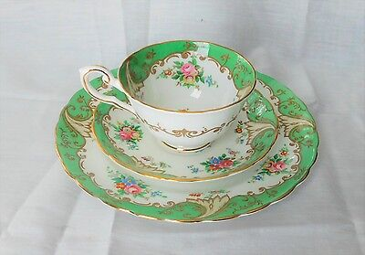 Tuscan Fine English Bone China Blenheim C5817 Tea Cup, Saucer, Underplate EXC