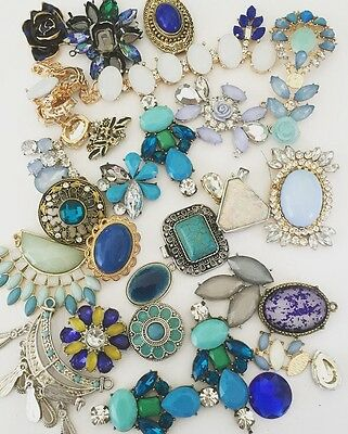 Broken Jewellery Harvest Spares Repairs Crafts Vintage Style Up Cycling Blue