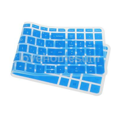 Waterproof Silicone Keyboard Cover Skin for HP Pavilion 15'' Clear Blue
