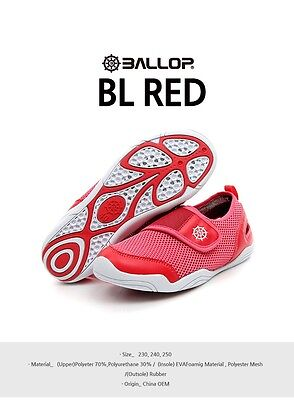Ballop Water Play, Indoor Sports, Aqua Shoes for Women 1Pcs (BL Red)