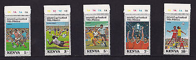 Kenya - 1986 World Cup Football - U/M - SG 379-83
