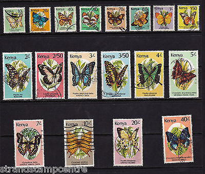 Kenya - 1988 Butterflies set to 40/- - Postally Used - SG 434-450