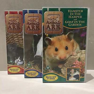 ANIMAL ARK - VHS VIDEO COLLECTION - 3 x TAPES - ITV CITV VINTAGE 1990s