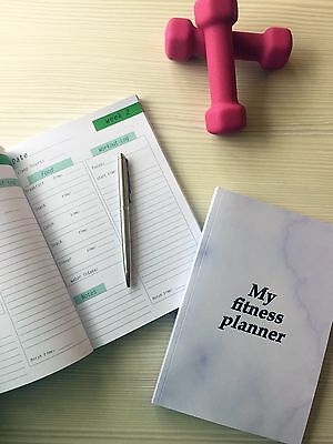 Fitness Planner Food Workout Diary Food Fitness Journal
