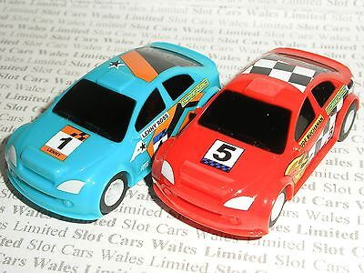 MICRO Scalextric - Pair of Dirt Rally Racers (Blue #1/Red #5) - Mint